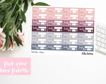 Bill Due // Planner Stickers