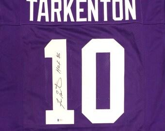 Fran Tarkenton Autographed Signed Minnesota Vikings Jersey BECKETT