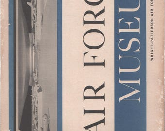 Air Force Museum Wright Patterson Air Force Base Ohio Paperback Book 1950's