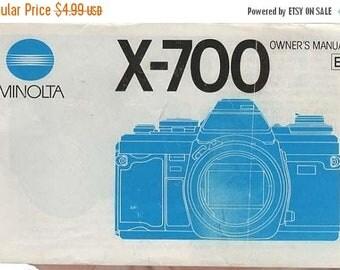 Minolta X-700 Owner's  1984 Manual