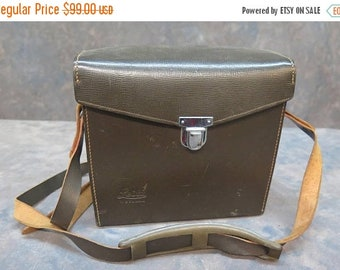 Leica Leitz Wetzlar Genuine Brown Leather Shoulder Strap Camera Bag