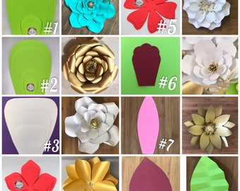 Giant paper flower templates, step by step paper flower tutorial included.