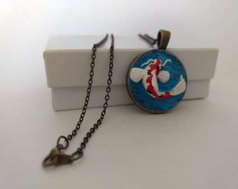 Koi pendant necklace