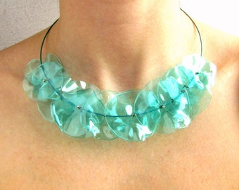Turquoise jewelry necklace Turquoise jewelry Turquoise necklace bib Blue necklace bib Girlfriend necklace gift Wife necklace gift Wife bib