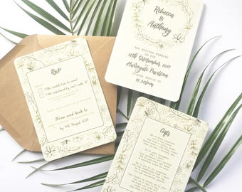Rustic Foliage Wedding Invitation