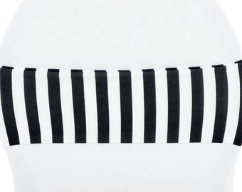 Black and White Strip Chair Band