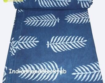 Indian Hand Block Dabu Print Fabric Dressmaking Running Cotton Block print fabric Garment dress Home decor  Crafts Soft Cambric Fabric
