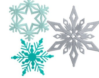 Snowflakes embroidery design - Machine embroidery design