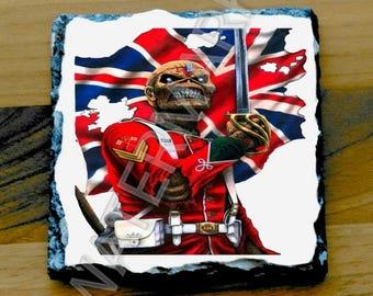 Iron Maiden Printed Mug Coaster Coasters . the trooper