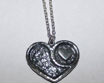 Nickel Silver Double Heart Necklace