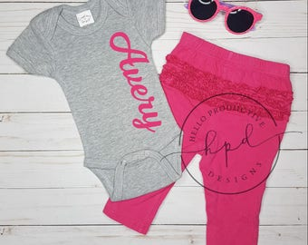 Custom baby Onesie   CustomOnesie   Personalized Baby Gift   Personalized Onesie   Baby Girl   Take Home Outfit