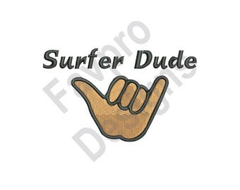 Surfer Dude - Machine Embroidery Design