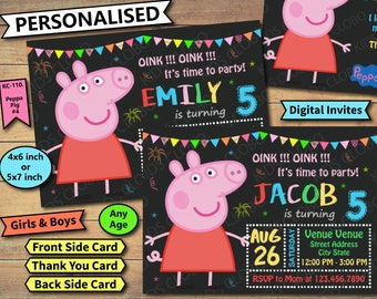 Peppa Pig Invitation, Peppa Pig Birthday Invite, Peppa Pig Birthday Invitation, Peppa Pig Birthday Party Invite, Peppa Pig Party Printable