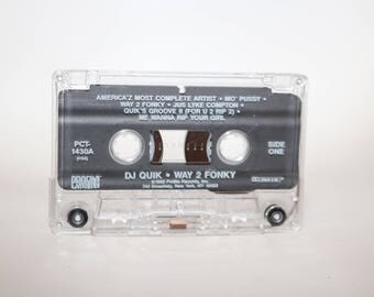 DJ Quik Way 2 Fonky Profile Original Cassette Tape Rap Hip Hop 1992 West Coast Lod Angeles Compton