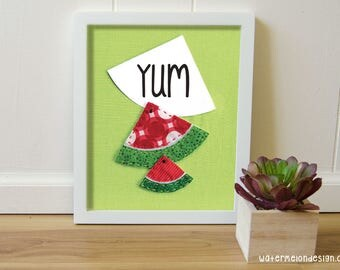 Watermelon Poster 8x10 inches