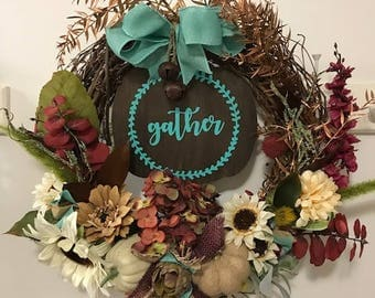 Fall Floral Gather Wreath