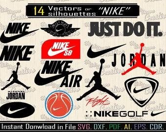 Nike Logo Vector svg, dxf, cut Nike Svg, Vector design logo sportswear, silhouette of the nike logo inspired art, Nike Jordan