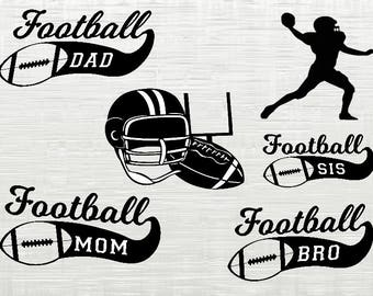 Football svg bundle, Football clipart, svg files for silhouette, cricut download, svg files, dxf, png, cut files, vector sports svg