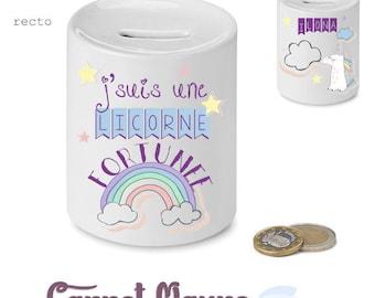"Piggy bank ""Unicorn Fleming"" - gift idea for her"