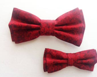 Bow Tie,Mens Bow Tie, Dad and Son Bow Tie, Burgundy Bow Tie, Father Son Bow Ties, Groomsmen Bow Tie, Floral Bow Tie,  Boys Bow Tie  DS722