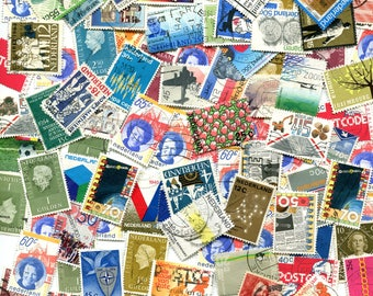 The Netherlands 75 Used Stamps