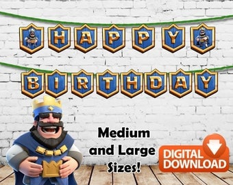 Clash Royale Happy Birthday Banners Printable