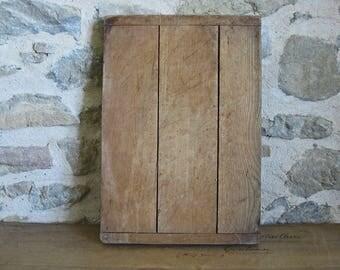 Rustic cutting board primitive French wood chopping block