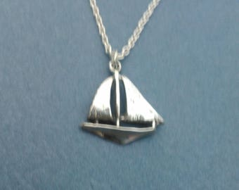 Sterling Silver Sailboat Necklace