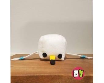 Wingull Pokemon Cube Plushie - 2 Inch Felt Cube