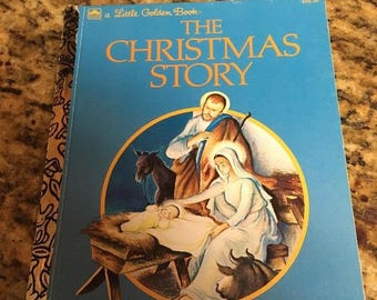 Little Golden Book: The Christmas Story 1992 vintage