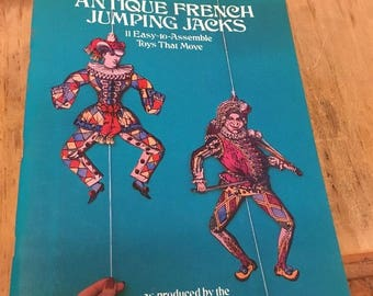 Antique French Jumping Jacks, 11 Easy to Assemble toys that move