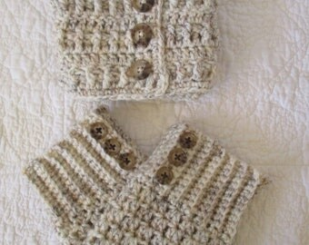 Boot cuffs and ear warmer head band set