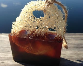 Coffee Loofah Soap on a Rope