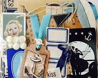 Hello Sailor Vintage Collage Cardmaking Kit