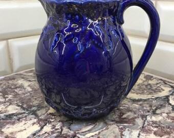 Vintage Pitcher - Cobalt Blue Glazed