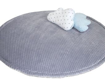 Double-sided Round Mat,  Padded Mat teepee play mat Teepee floor Mat Round Rug Baby Blanket, 150cm in diameter