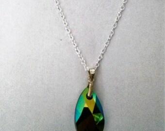 Swarovski Crystal Teardrop Pendant Necklace