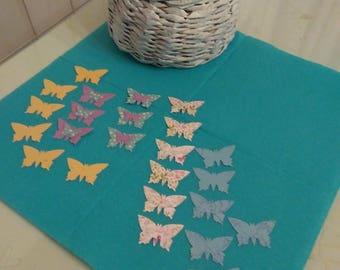 set of 24 butterflies
