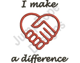 Make Difference - Machine Embroidery Design