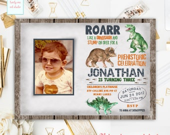 Dinosaur Birthday Invitation, Dinosaur Invitation, Dinosaur Birthday Party, Dinosaur Invite, Dinosaur Party Invite