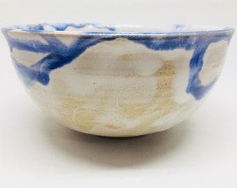 river bowl, Blue And White Bowl, Salad Bowl, Stoneware Bowl, Handmade Bowl, Housewarming Gift, Wedding Gift