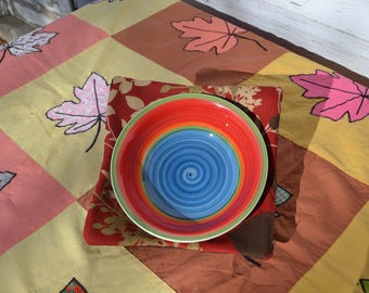 Bowl Lifters (set of two) - Keep Those Hands From Getting Burnt by Microwaved Food! Red, gold, brown