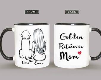 Personalized Golden Retriever Mug, Golden Retriever Mug, Golden Retriever Gift, Golden Retriever Mom Gift
