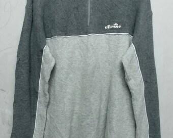 Vintage ellesse half zipper sweatshirt M