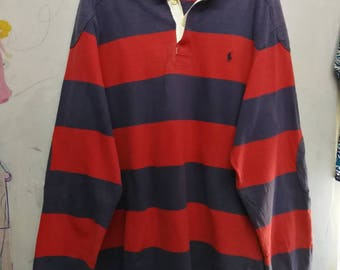 vintage Polo By Ralph Lauren stripes polo shirt L
