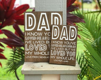 Dad I know you've loved me | fathers day gift | fathers day | fathers day sign | dad | custom gift | birthday gift