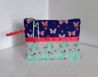 Flat pouch in fabric