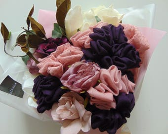 Scarf Hijab Bouquet Flower Gift Thank You Congratulations Wedding Engagement Eid Hajj Umrah Birthday Mother's Day
