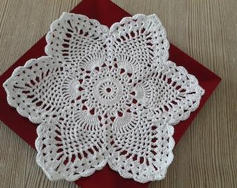 Star Doily, White doily, Crocheted Doilies