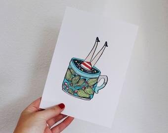 A5 print galaxy cup